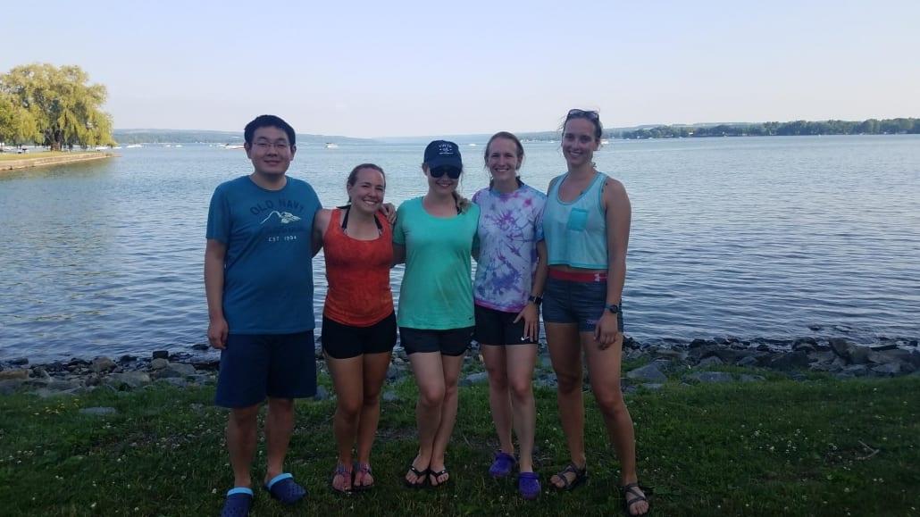 2018 Members of the Class of 2014 at Owasco Lake